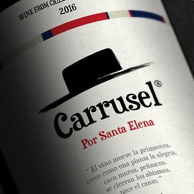 étiquette Carrusel, por Santa Elena, vin du Chili, 2016