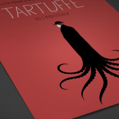 """Affiche """"Tartuffe"""", par la compagnie Athome"""