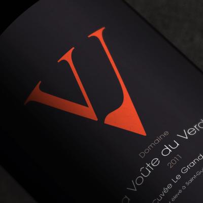 étiquette de la cuvée Le Grand Saut, domaine de La Voûte du Verdus, Saint-Guilhem-le-Désert