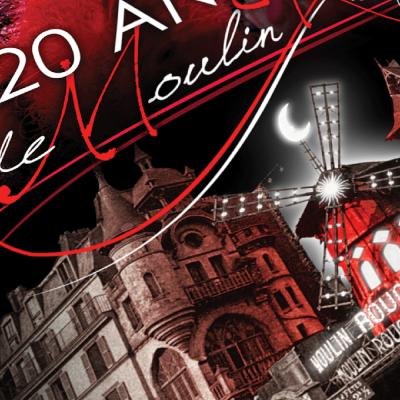 """Couverture du livre """"120 ans de Moulin Rouge"""", par Alain Weill, aux éditions Seven Sept"""