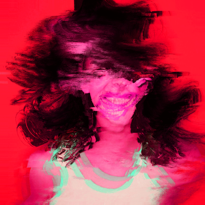 Portrait datamosing : glitch, pixelsorting & PS